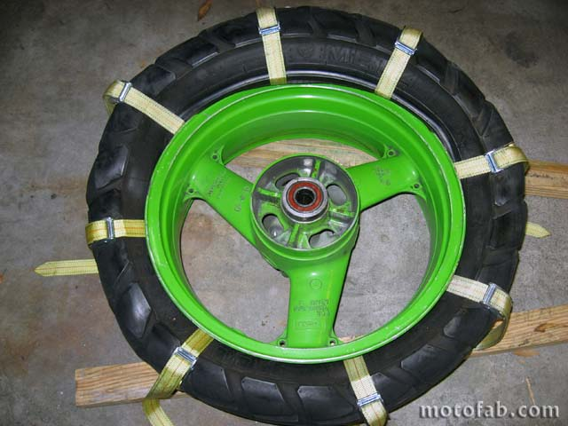 Mount a Motorcycle Tire Without Using Tools 810