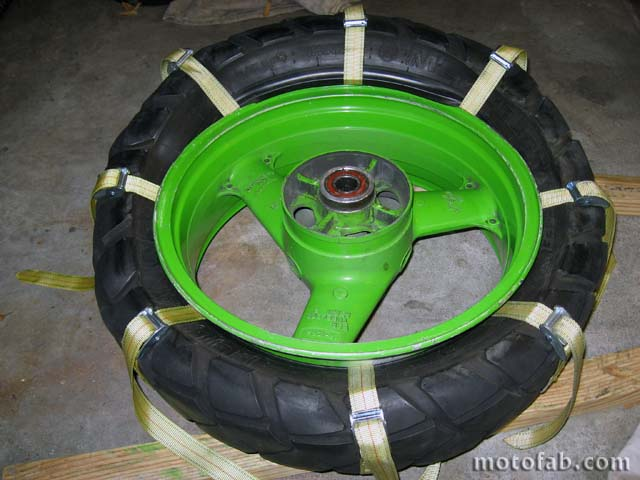 Mount a Motorcycle Tire Without Using Tools 910