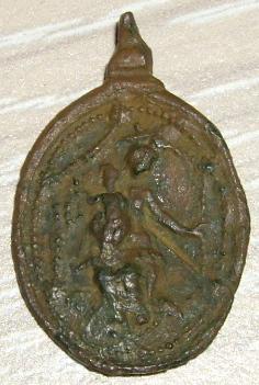 Médaille XVIIème - N-D-du-Rosaire et avers saint Dominique de Soriano Imgp1513