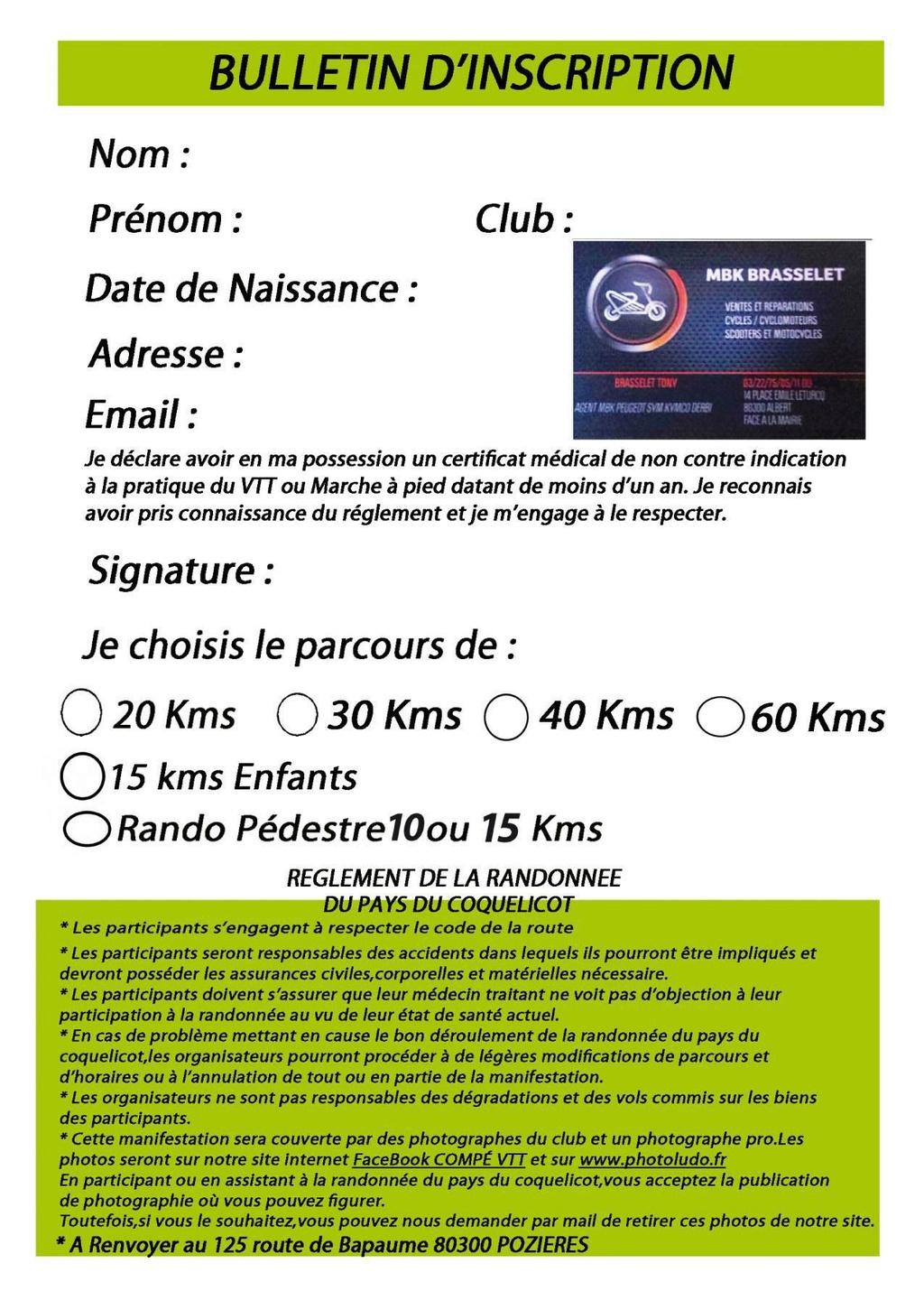 La 25ème rando VTT du Pays du Coquelicot à Pozières, 26/08 33136310