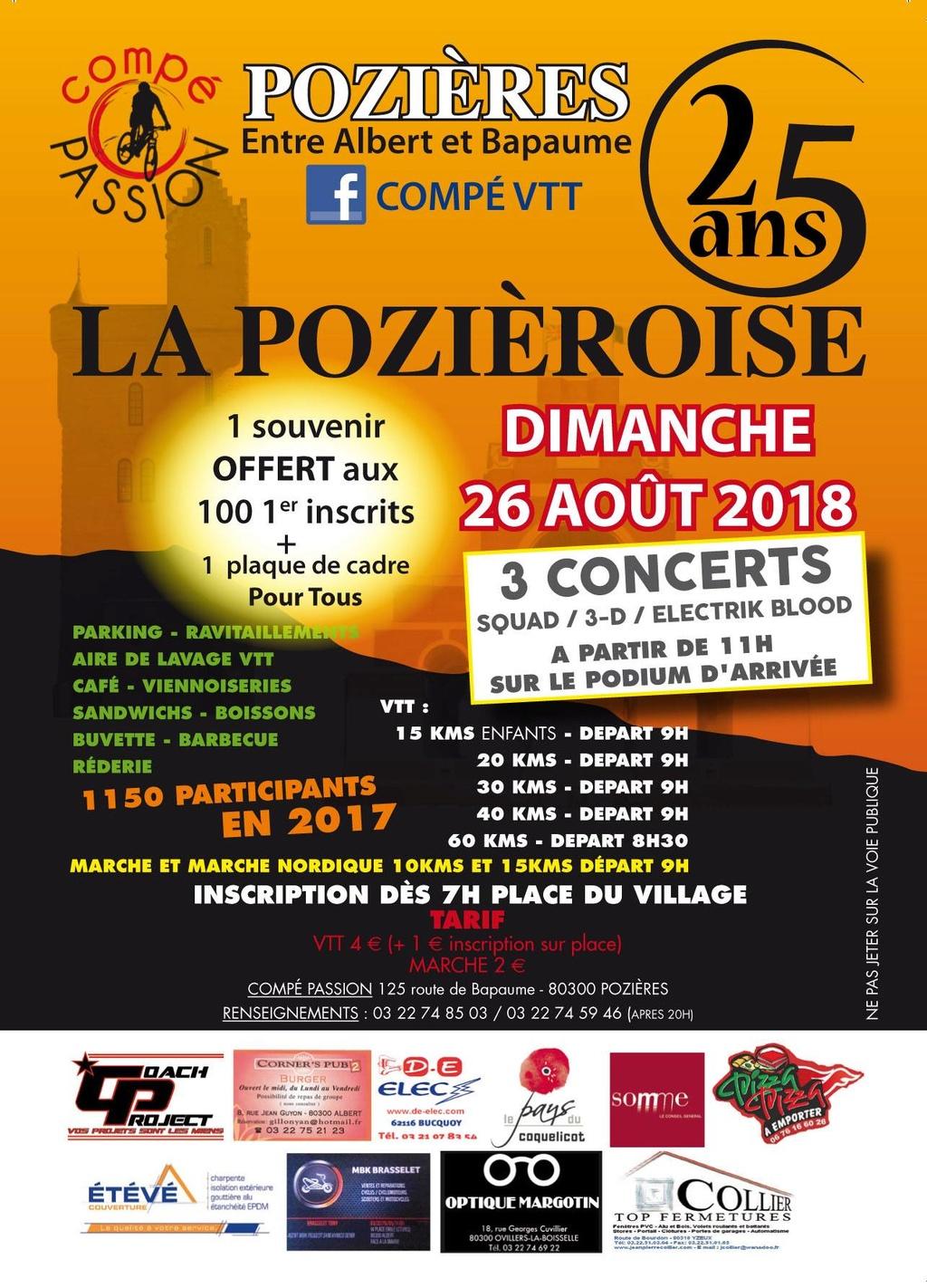 La 25ème rando VTT du Pays du Coquelicot à Pozières, 26/08 33158310