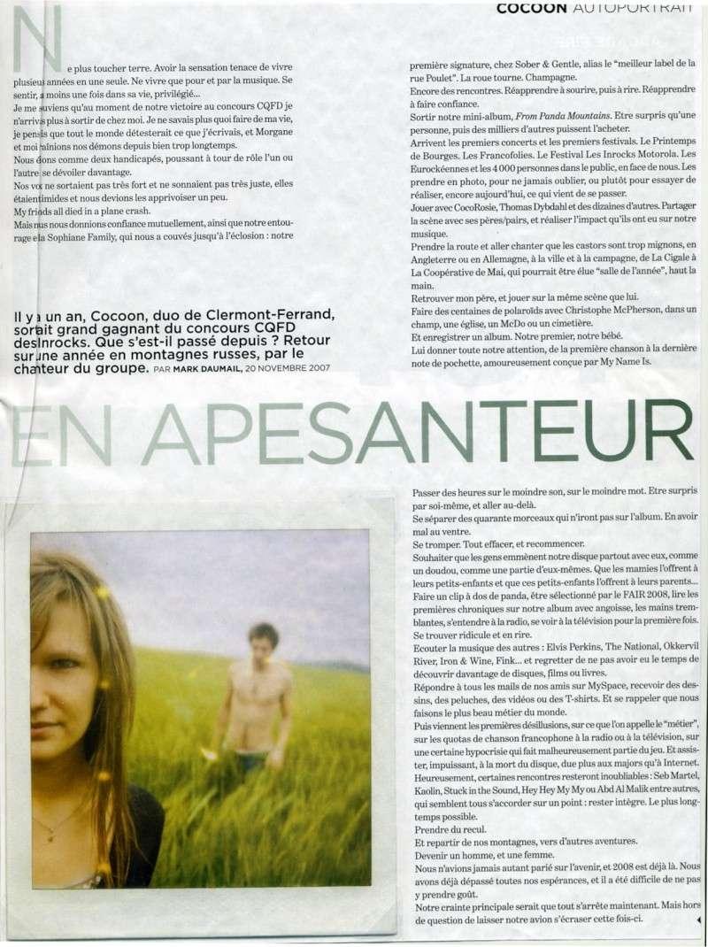Cocoon - Presse Inrock13