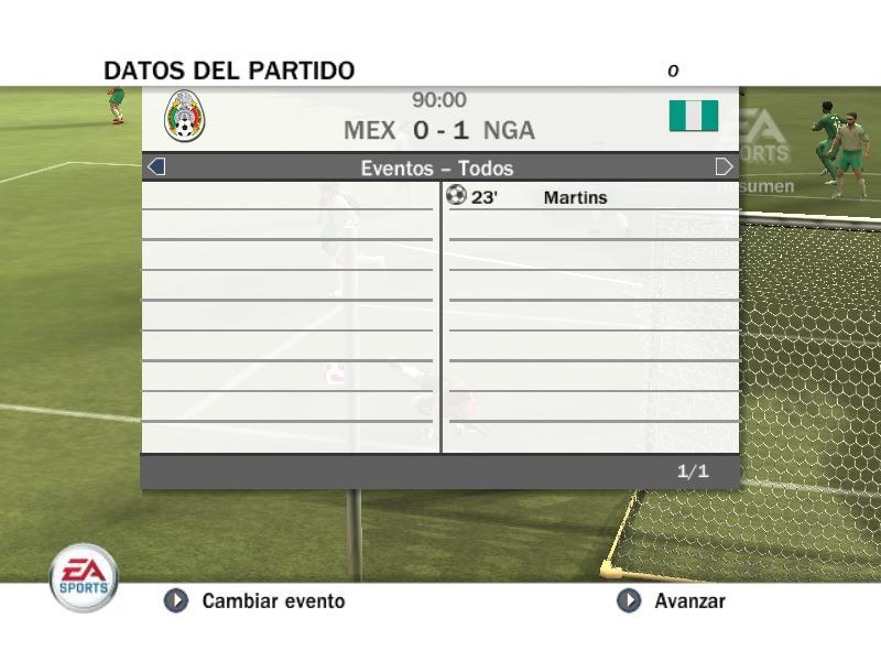 RESULTADOS PRIMERA FECHA Mexico10