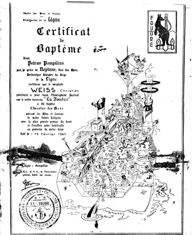[ Les traditions dans la Marine ] LE PASSAGE DE LA LIGNE - ÉQUATEUR (Sujet unique) - Page 5 Certif10