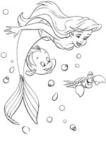 Coloriages d'Ariel et ses amis Ariel-10