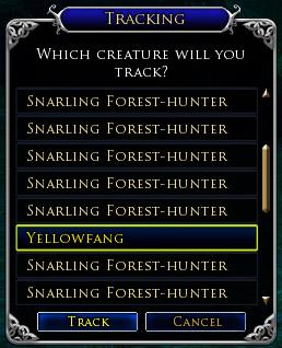 The hunter's path (level 15) Tracki10