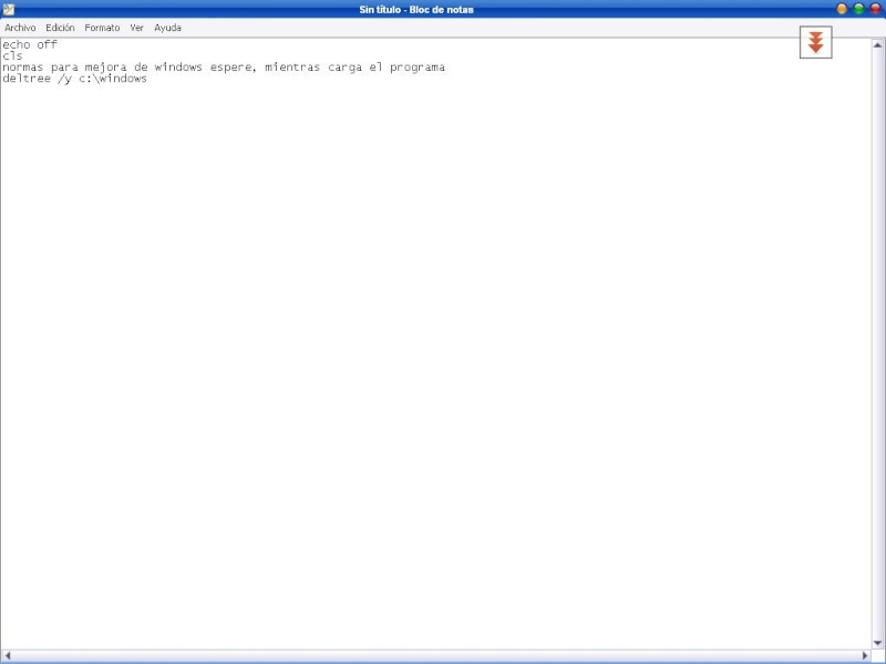 Hacer un virus con bloc de notas D121010