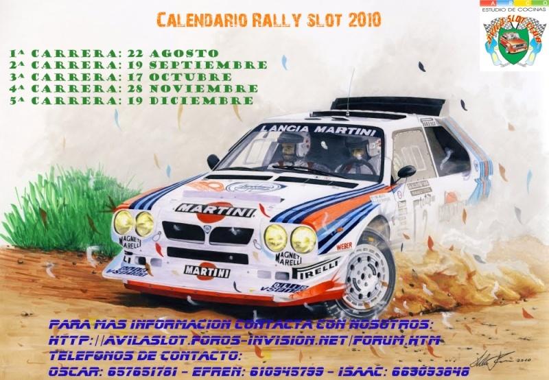 2ª prueba Rally Slot Avila Slot Club Arco Estudio de Cocinas 19-9-2010 Calend10