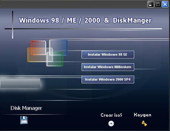 Windows 98SE/ME/2000SP4 en un solo CD Win98m10