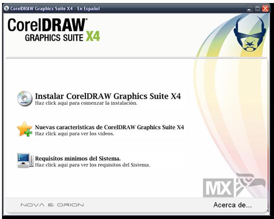 CorelDRAW Graphics Suite X4 En Español X410