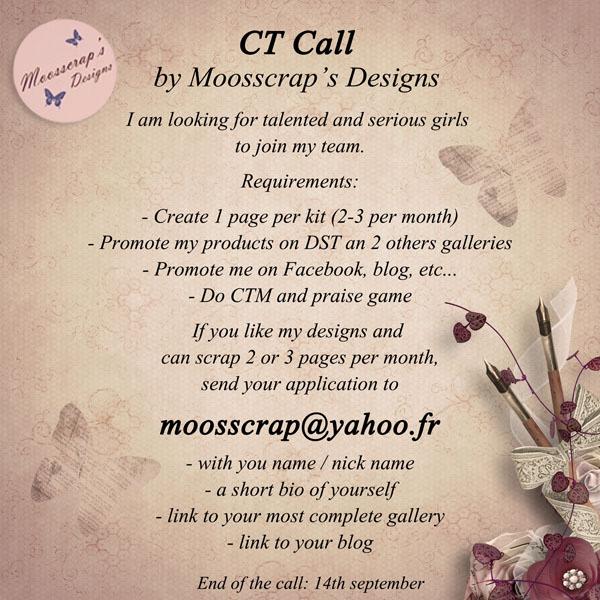 CT Call Moosscrap's Designs (->14/09) ***CLOS*** Ctcall11