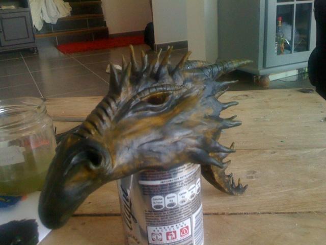 modelage  tête de dragon  /finie Photo10