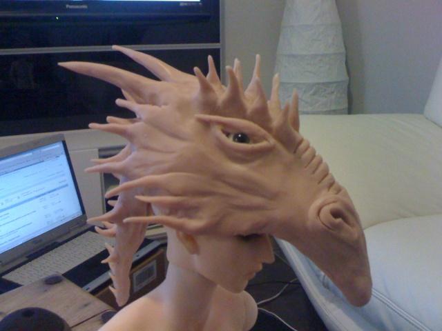 modelage  tête de dragon  /finie Photo_12