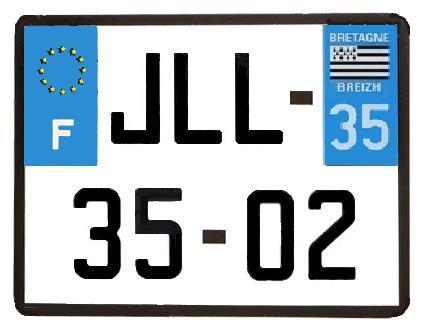 Fabriquer des stickers sur mesure pour Scale Trial 4x4 et Crawler ainsi que les plaques d'immatriculation custom et pas cher Jll-3510