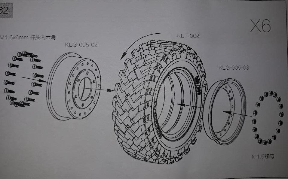 Camion Cross RC UC6 6x6 de Louloux : Montage et Présentation - Page 2 Roues_13