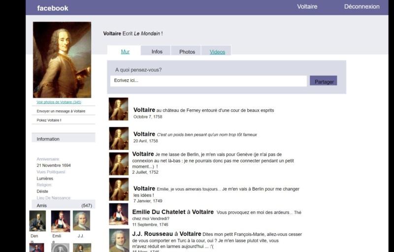 lettres et TICE : création de faux profil à l'aide de FB Voltai10