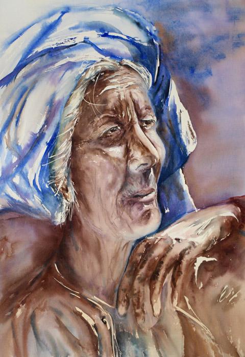 Portrait d'une vieille femme du Myanmar Vieill10