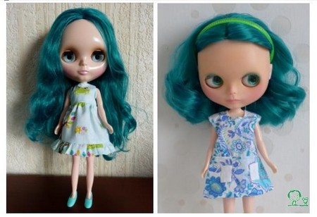 Nerea , Blythe factory emerald custom N610