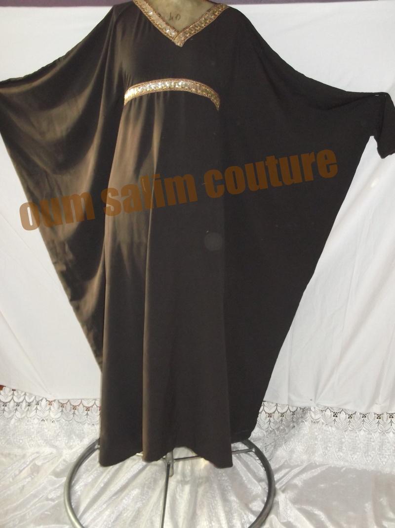 Abaya papillon décoré Dscf0121