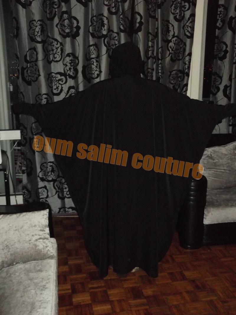 Abaya papillon col rond ou V simple Dscf0417