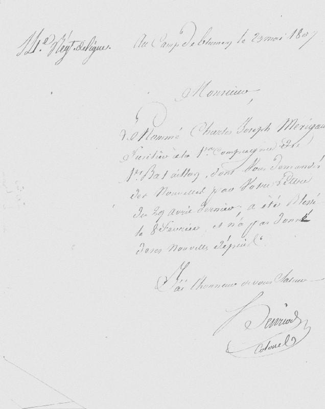 Guerre napoléonienne ... Lettre13