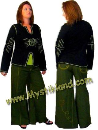 manteau capuche lutin et pantalon large neuf Patted10