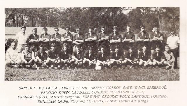 Saison 1984/85 (dernier 16ème de Finale de 1ère Division) Aquipe10
