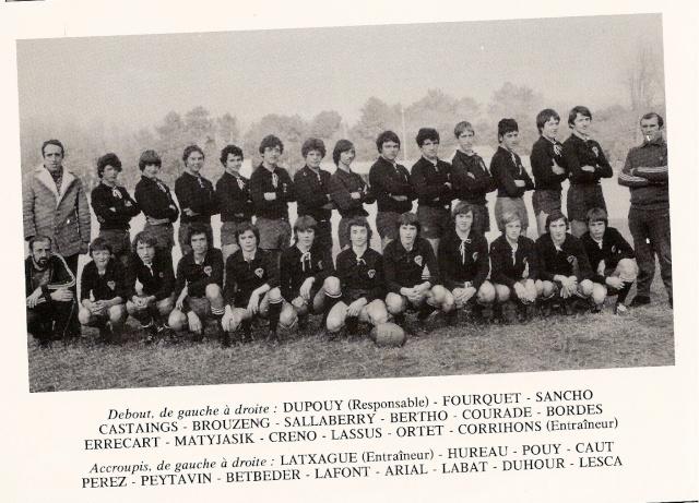 Les reconnaissez-vous ? ... les équipes cadets du Boucau-Stade Cadets14