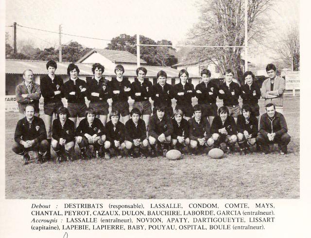 Les reconnaissez-vous ? ... les équipes cadets du Boucau-Stade Cadets16