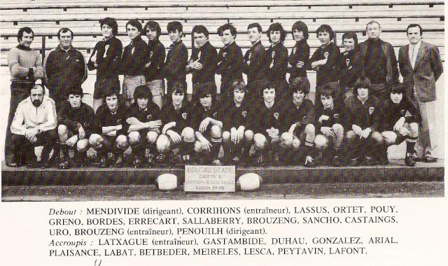 Les reconnaissez-vous ? ... les équipes cadets du Boucau-Stade Cadets17
