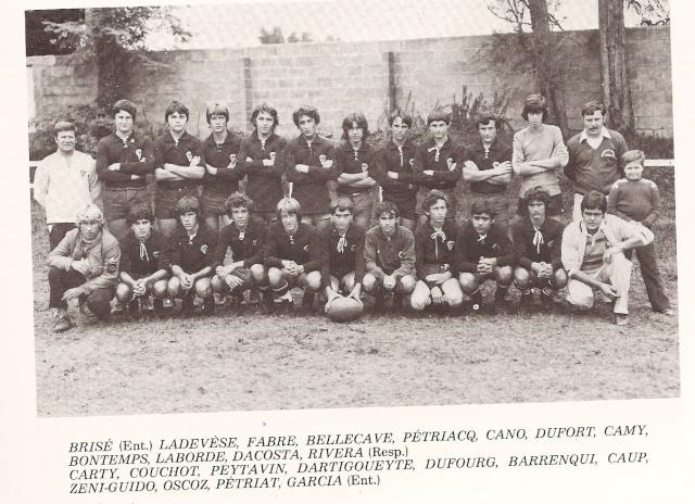 Les reconnaissez-vous ? ... les équipes cadets du Boucau-Stade Cadets19