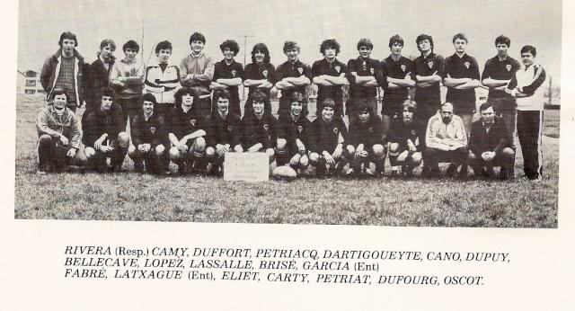 Les reconnaissez-vous ? ... les équipes cadets du Boucau-Stade Cadets20