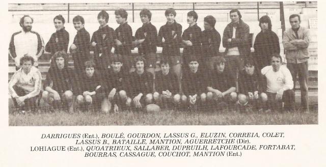 Les reconnaissez-vous ? ... les équipes cadets du Boucau-Stade Cadets22