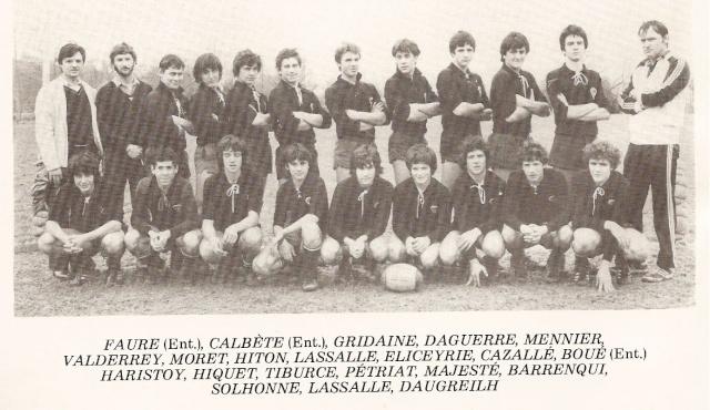 Les reconnaissez-vous ? ... les équipes cadets du Boucau-Stade Cadets23