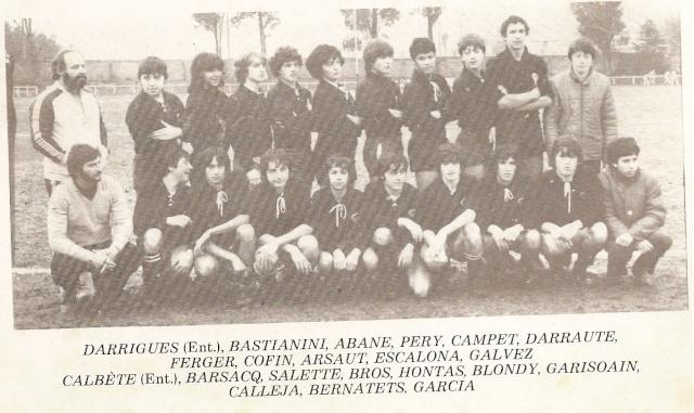 Les reconnaissez-vous ? ... les équipes cadets du Boucau-Stade Cadets25