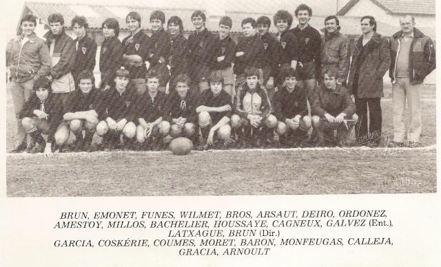 Les reconnaissez-vous ? ... les équipes cadets du Boucau-Stade Cadets27