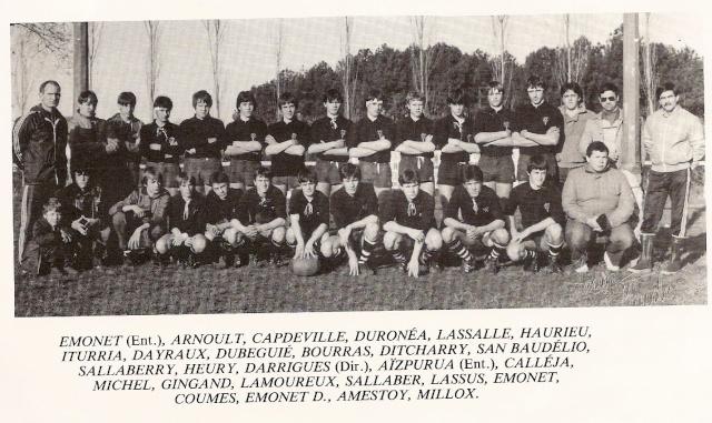 Les reconnaissez-vous ? ... les équipes cadets du Boucau-Stade Cadets28