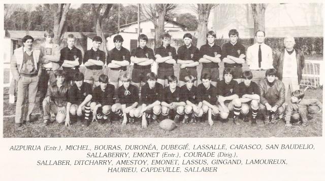 Les reconnaissez-vous ? ... les équipes cadets du Boucau-Stade Cadets29