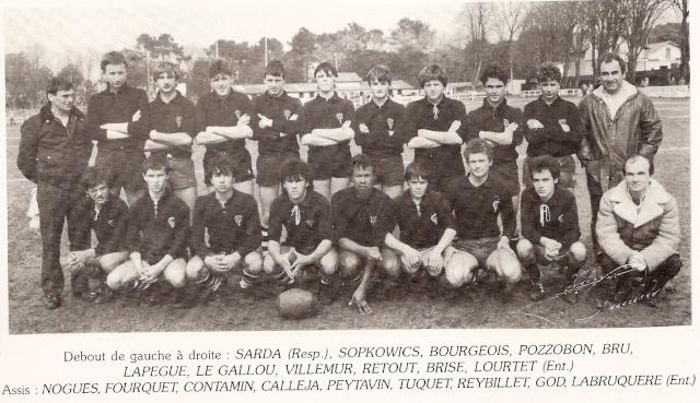 Les reconnaissez-vous ? ... les équipes cadets du Boucau-Stade Cadets33