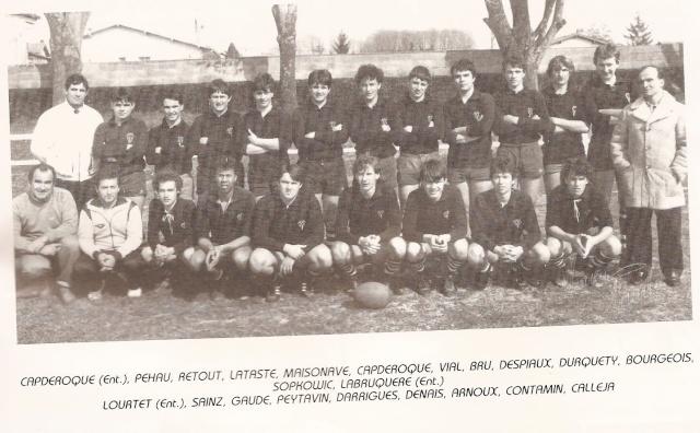 Les reconnaissez-vous ? ... les équipes cadets du Boucau-Stade Cadets35