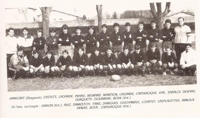 Les reconnaissez-vous ? ... les équipes cadets du Boucau-Stade Cadets37