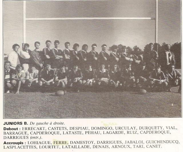 Les reconnaissez-vous ? ... les équipes cadets du Boucau-Stade Cadets38