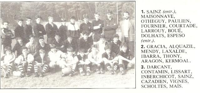 Les reconnaissez-vous ? ... les équipes cadets du Boucau-Stade Cadets39