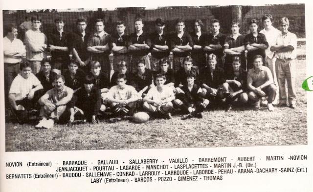 Les reconnaissez-vous ? ... les équipes cadets du Boucau-Stade Cadets42