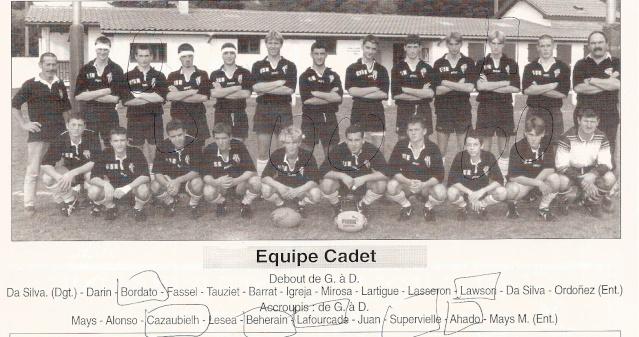 Les reconnaissez-vous ? ... les équipes cadets du Boucau-Stade Cadtes10