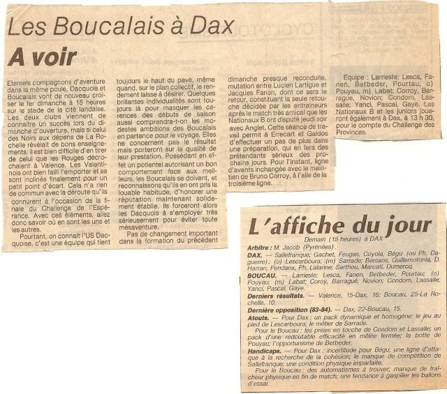 Saison 1984/85 (dernier 16ème de Finale de 1ère Division) Dax_bs14