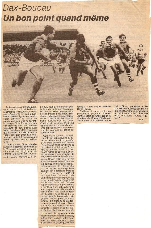 Saison 1984/85 (dernier 16ème de Finale de 1ère Division) Dax_bs17