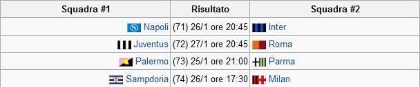 Calendrier Coupe d'Italie Sans_t18