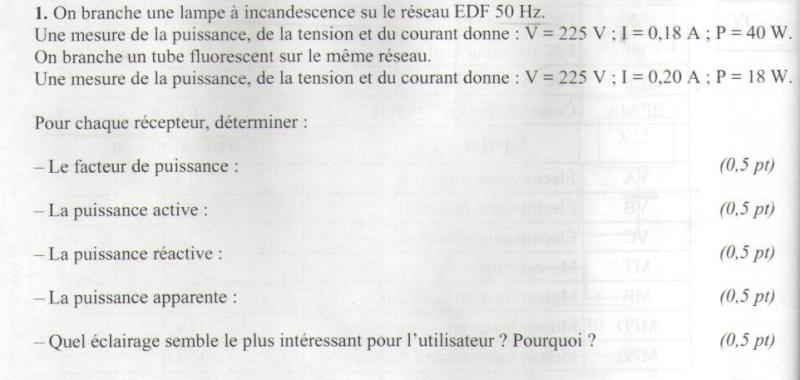 calculs courant alternatif Exo110