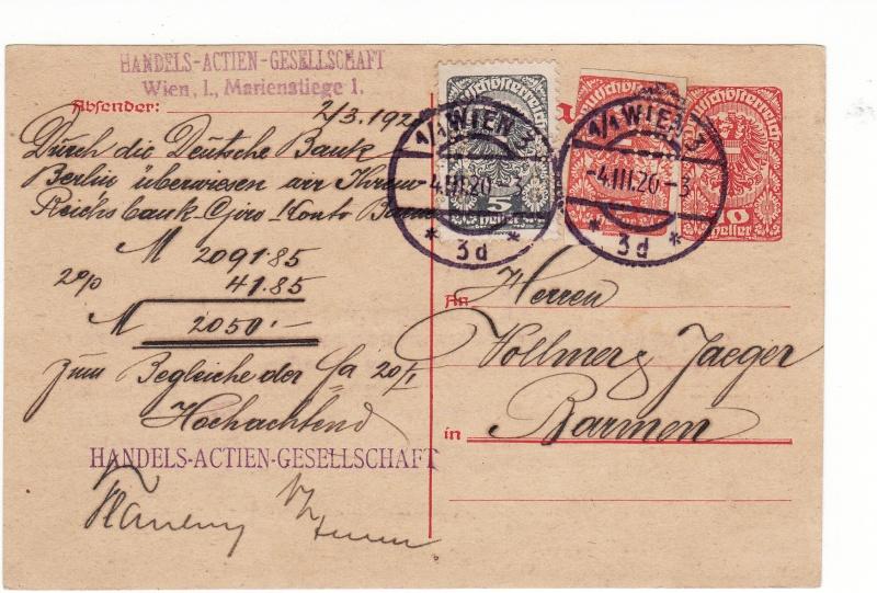 """Postkartenserie """"Neuer Wappenadler"""", Inschrift """"Deutschösterreich"""" Img17"""